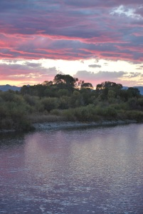 The Jefferson River at Sunset recently