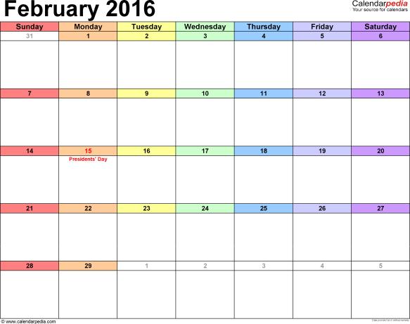 february--2016--calendar