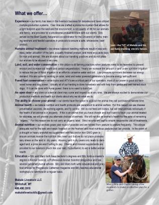 Makale Livestock LLC Brochure page 2